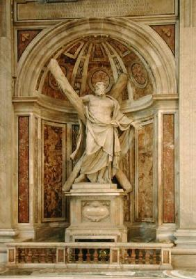Statue of St. Andrew, at the base of the four pillars supporting the dome 1629-40