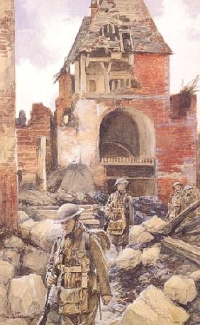 British Soldiers in the Ruins of Peronne