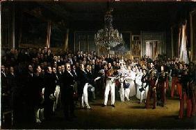 Kunstdruck von François-Joseph Heim - The Chamber of Deputies at the Palais Royal Summoning the Duke of Orleans
