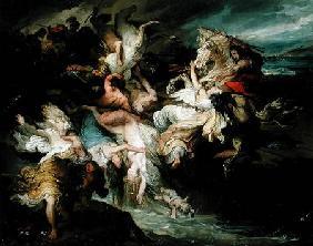Kunstdruck von François-Joseph Heim - The Defeat of the Teutons and the Cimbri by Gaius Marius (c.157-86 BC)