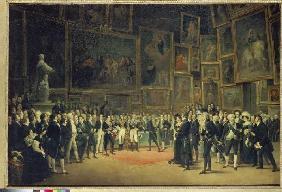 Kunstdruck von François-Joseph Heim - Karl X. bei der Preisverleihung an die Künstler des Salon von 1824 am 15.1.1825