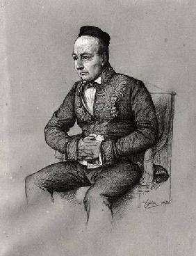Kunstdruck von François-Joseph Heim - Portrait of Charles Augustin Sainte-Beuve (1804-69) 1856