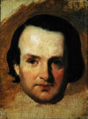 Kunstdruck von François-Joseph Heim - Study for a portrait of Victor Hugo (1802-85)