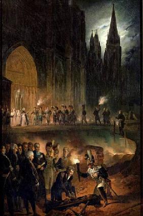 Kunstdruck von François-Joseph Heim - Transferring the Bones of the Royal Family to the Church of St. Denis
