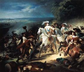 Kunstdruck von François-Joseph Heim - Battle of Rocroy, 19th May 1643