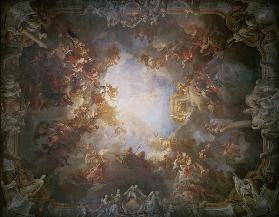 The Apotheosis of Hercules, from the ceiling of The Salon of Hercules 1733-6