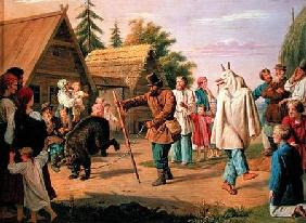 Buffoons in a Village 1857