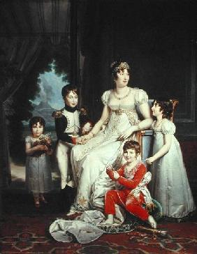 Caroline Bonaparte (1782-1839) and her Children