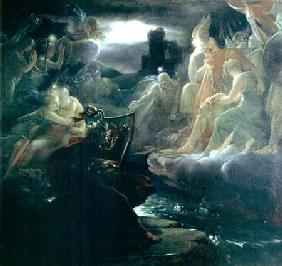 Ossian Conjuring up the Spirits on the Banks of the River Lora with the Sound of his Harp 1801