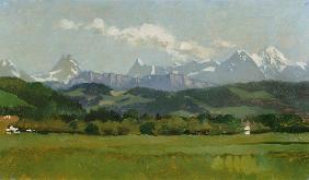 Kunstdruck von Frank Buchser - Kleine Alpenkette