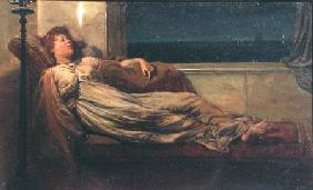 Classical Lady Reclining on a Chaise Longue