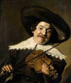 Daniel van Aken Playing the Violin c.1640