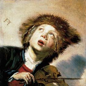 A Boy with a Viol  (pair of 133733)