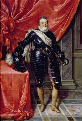 Henry IV, King of France, in armour, c.1610
