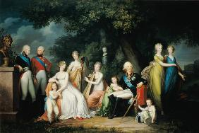 Paul I (1754-1801), Maria Feodorovna (1759-1828) and their Children c.1800