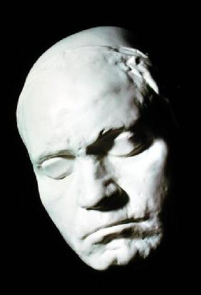Mask of Beethoven (1770-1827), taken from life at the age of 42 1812