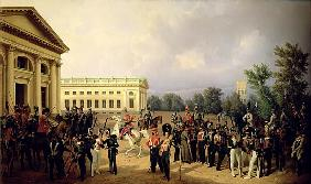The Russian Guard in Tsarskoye Selo in 1832