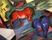 Rotes-und-blaues-Pferd