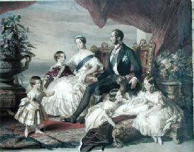 Queen Victoria (1819-1901) and Prince Albert (1819-61) with Five of the Their Children 1846