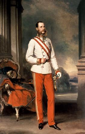 Franz Joseph I, Emperor of Austria (1830-1916) wearing the dress uniform of an Austrian Field Marsha 1864