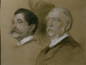 Otto von Bismarck and his Son Herbert, State Secretary of the Foreign Office from 1860-90
