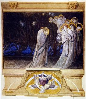 Illustration from Dante''s ''Divine Comedy'', Purgatory, Canto XXXIII