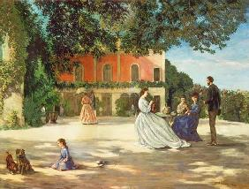 Family Reunion on the Terrace at Meric 1867