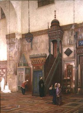 Kunstdruck von Frederic Leighton - Detail of the interior of the Grand Mosque, Damascus