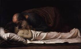 Kunstdruck von Frederic Leighton - Elisha healing the son of the Shunamite widow