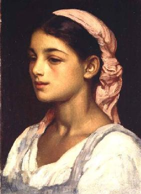 Kunstdruck von Frederic Leighton - Head of an Italian Girl