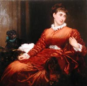 Kunstdruck von Frederic Leighton - Mrs Henry Evans Gordon (1845-1925)