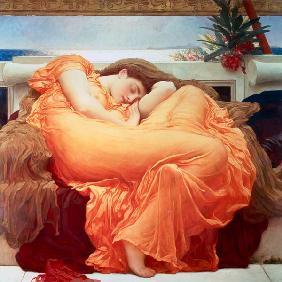 Kunstdruck von Frederic Leighton - Flaming June