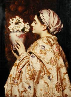 Kunstdruck von Frederic Leighton - A Noble Lady of Venice