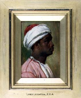 Kunstdruck von Frederic Leighton - Study of a Nubian young man (panel)