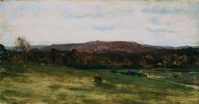 Study of Hills (oil on canvas) 1876