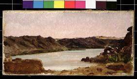View on the Nile, 1868 (oil on canvas) 19th