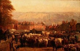 The Hill at Norwich on Market Day 1871