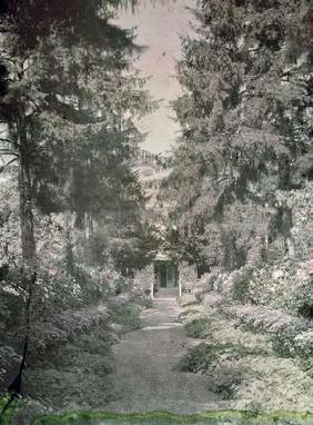 Path in Monet's Garden at Giverny, early 1920s (photo) 19th