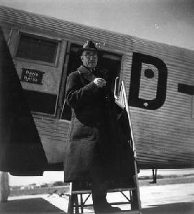 Andre Gide travelling in USSR, 1936 (b/w photo)