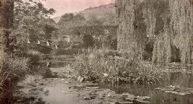 Waterlily Pond and Japanese Bridge in Monet's Garden at Giverny, early 1920s (photo) 19th