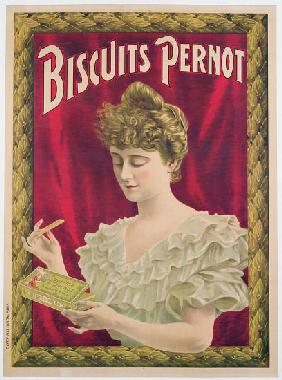 Poster advertising Pernot biscuits c.1902