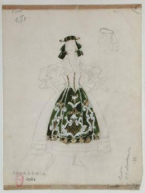 "Costume design for opera ""Cavalleria Rusticana"" by Pietro Mascagni (1863-1945)"