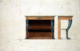 Design for a Directoire console table c.1795  &