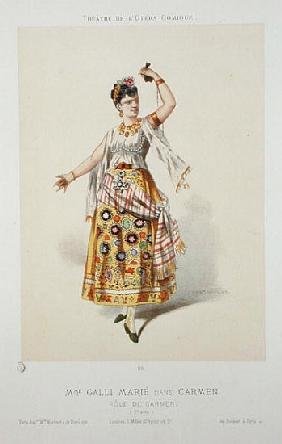 Galli Marie in the role of Carmen in ''Carmen'' Georges Bizet (1840-75)