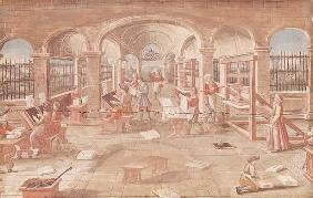 Interior of a Printing Works in the 16th Century