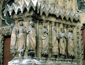 Jamb figures from the left hand side of the central portal, west facade 13th-14th