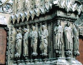Jamb figures from the right side of the central portal, west facade c.1240