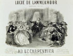 'Lucia de Lamermoor' the opera by Domenico G M Donizetti (1797-1848) 1864