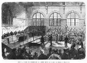 Members of the Commune being court martialled at Versailles