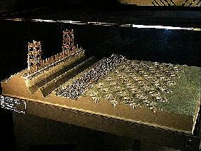 Model of Caesar''s defences at Alesia (mixed media)
